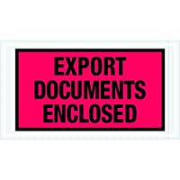 Tape Logic TLPL440 Export Documents Enclosed Envelopes 5 1/2 x 10 Red (Pack of 1000) [並行輸入品]
