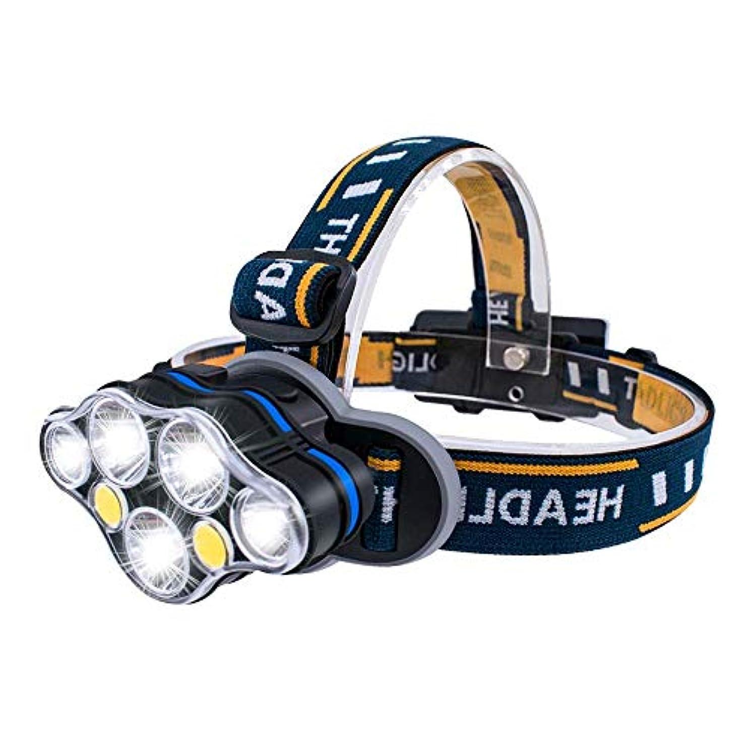 お手伝いさん作り議論するMUTANG SOSモードのLEDヘッドライト、7ランプビーズグレア再充電可能な超明るい長距離ヘッドマウントヘッドフラッシュライトは、照明の鉱山のランプを充電することができます