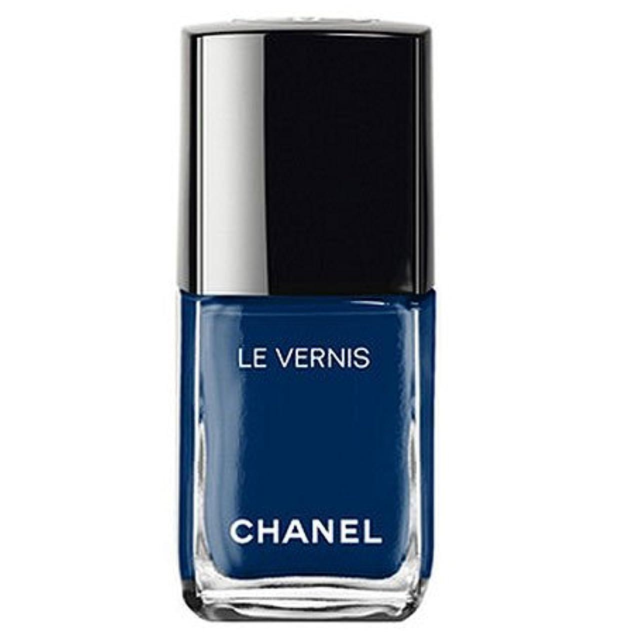 の中で背景憤るシャネル ヴェルニ ロング トゥニュ 624 ブルー トロンペール-CHANEL-