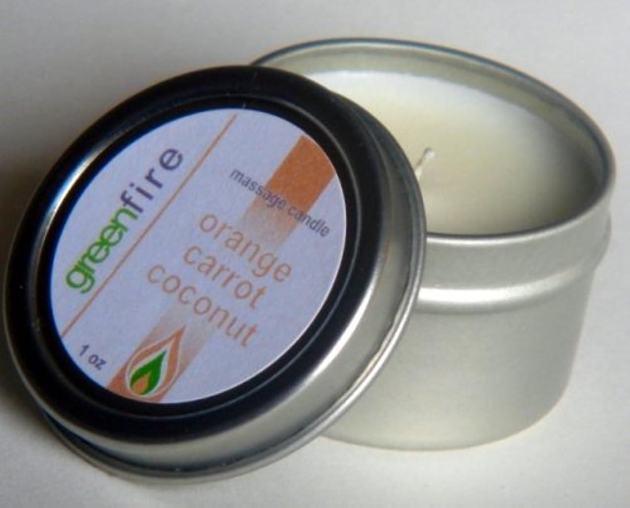 メディカル温度健康的グリーンファイヤーマッサージオイル/2パック入り オレンジ?キャロット?ココナッツ/ローズウッド?カモミール?イランイランの香り(サイズ:各29.6mL)