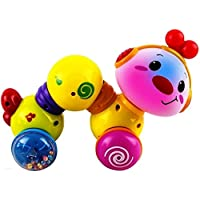 WolVol Musical押しとクロールBaby Activity Toy withライトand Rattles (セーフとテスト電池付属) – おもちゃfor Toddlers