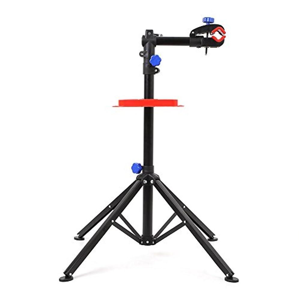 手綱ドラム提案MVPower Pro メカニックバイク修理スタンド 高さ調節可能 自転車メンテナンスラック 作業台 工具トレイ付き 伸縮式アームサイクル