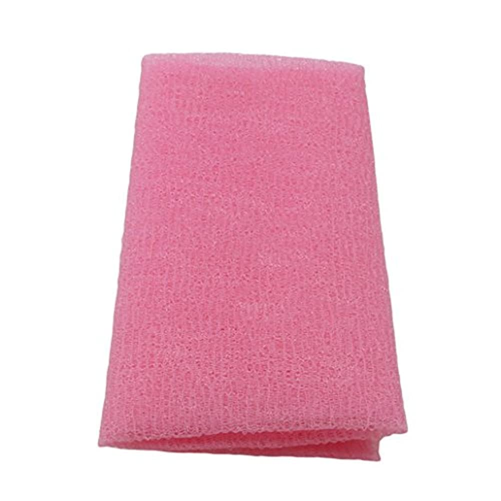 MARUIKAO ボディタオル 泡しゃり ナイロン ロング 固め ピンク