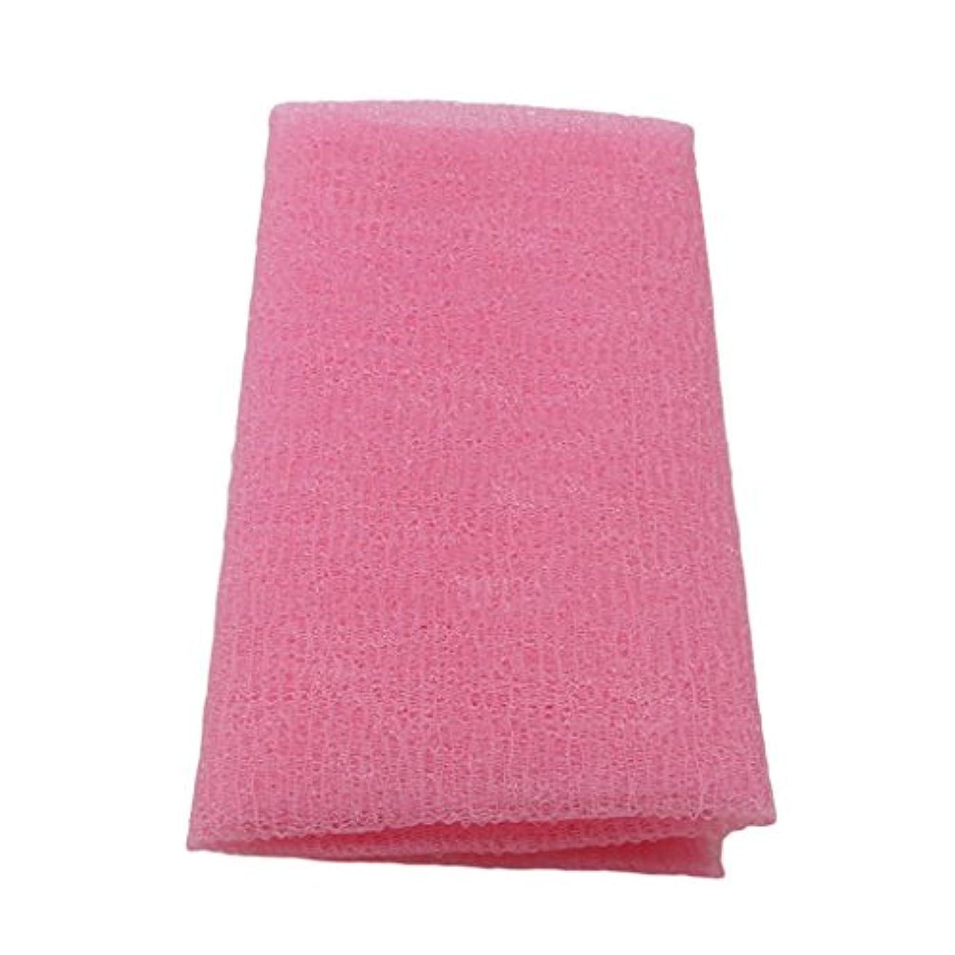 取り扱いキャラバン組み合わせるMARUIKAO ボディタオル 泡しゃり ナイロン ロング 固め ピンク