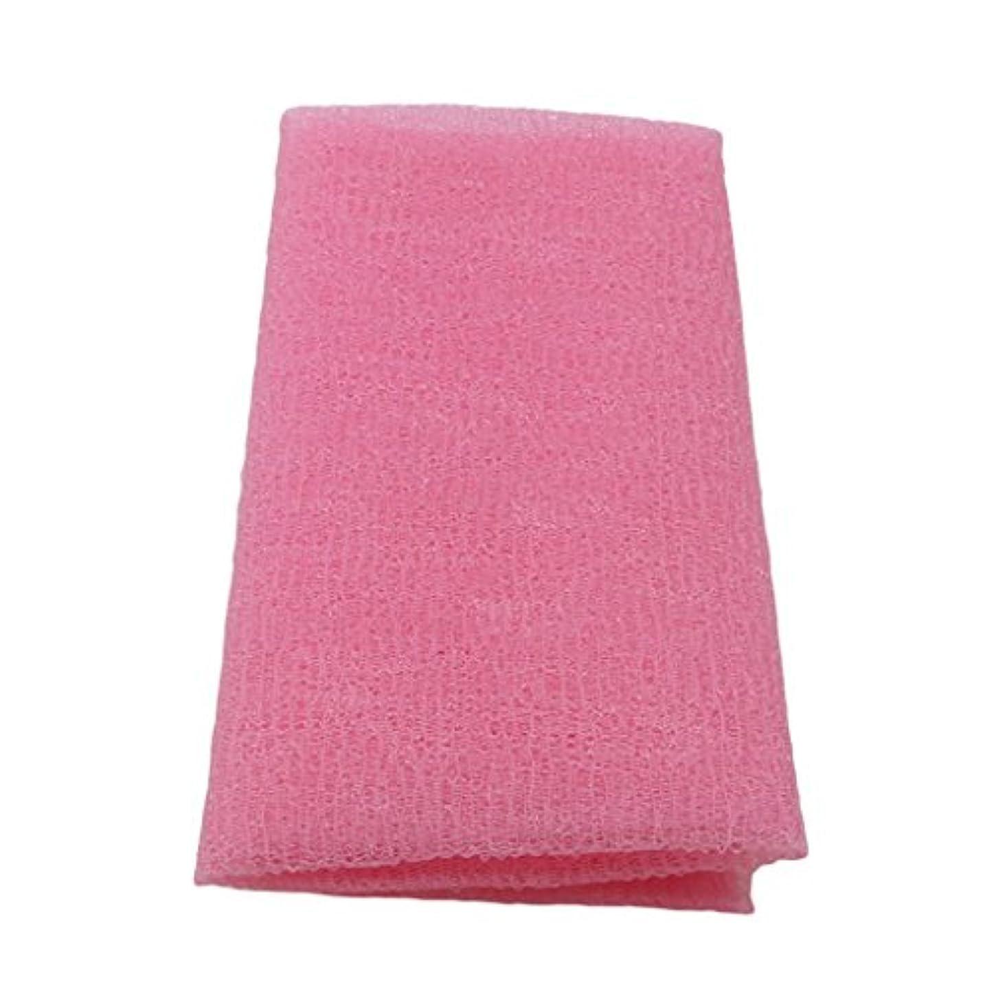 天才複合チェリーMARUIKAO ボディタオル 泡しゃり ナイロン ロング 固め ピンク