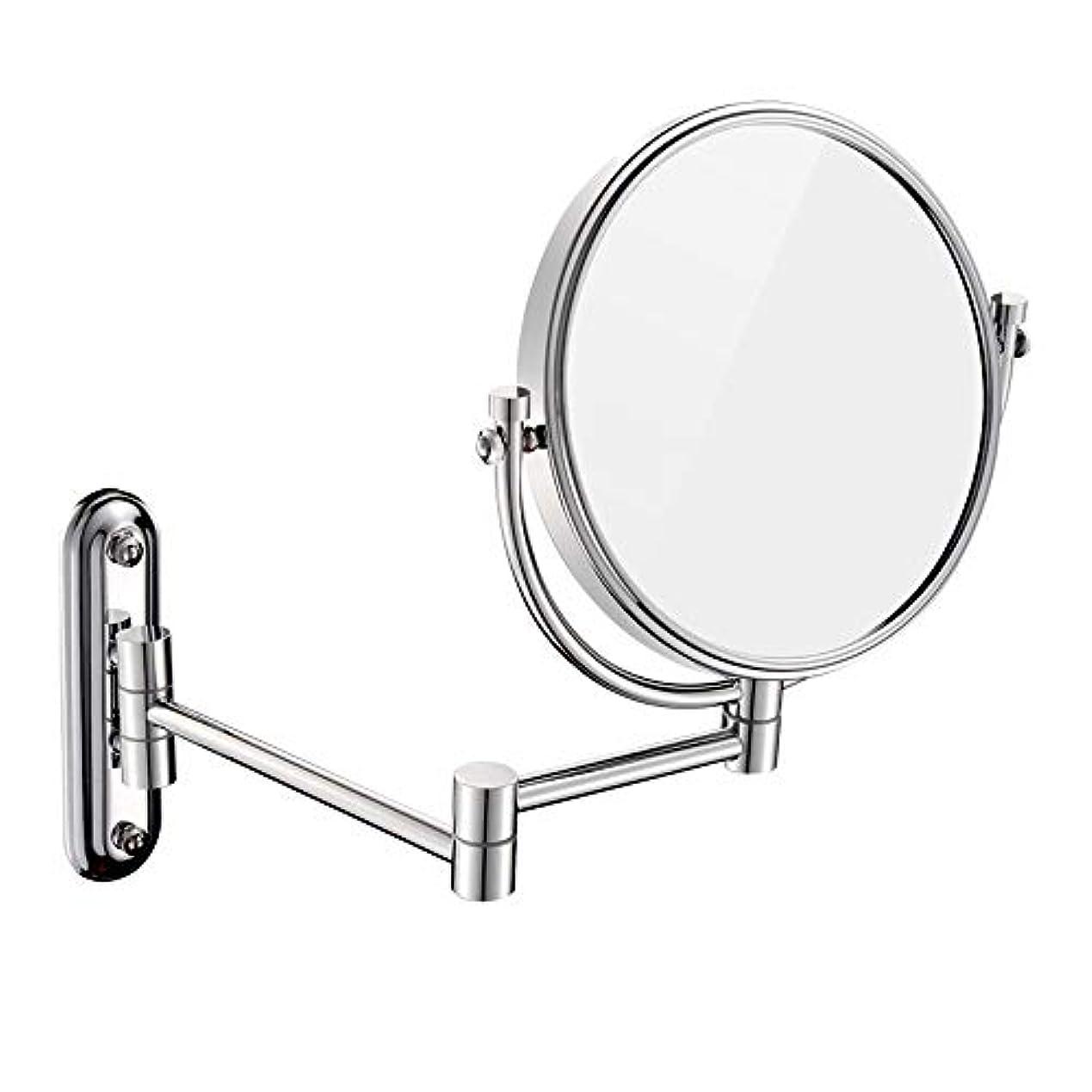 取り戻す気配りのあるカールFENDOUBA 化粧鏡 3倍拡大両面壁マウント化粧鏡、360°回転可能、8インチ、ラウンド