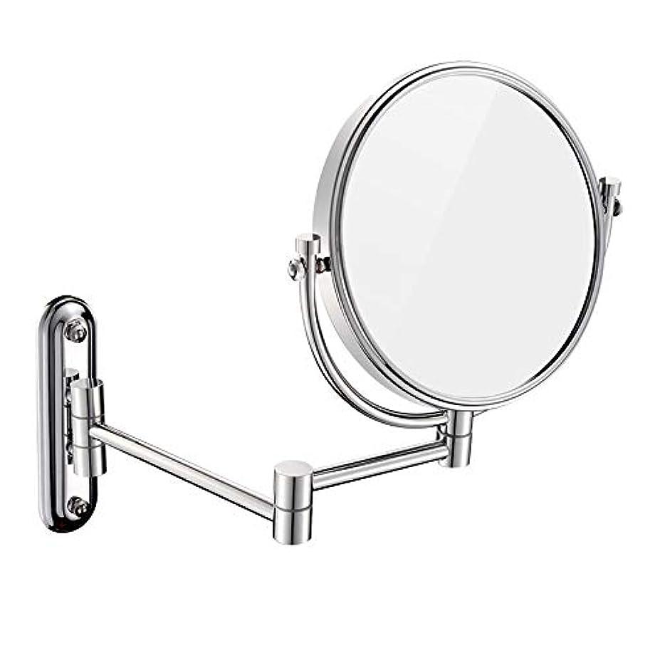 女性胸取るに足らないFENDOUBA 化粧鏡 3倍拡大両面壁マウント化粧鏡、360°回転可能、8インチ、ラウンド