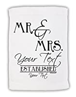 "TooLoud Personalized Mr and Mrs – name- Established – date-デザインMicro Terryスポーツタオル11 "" x18 """
