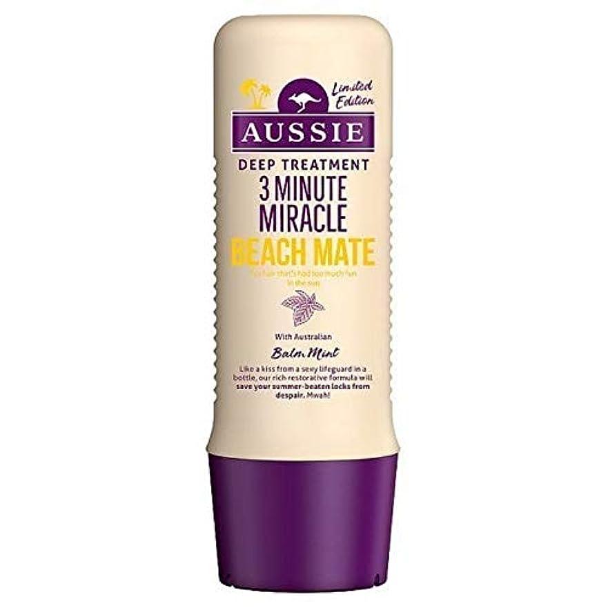 症状してはいけないマラソン[Aussie ] オージー3分の奇跡ビーチメイト深い処理250ミリリットル - Aussie 3 Minute Miracle Beach Mate Deep Treatment 250ml [並行輸入品]