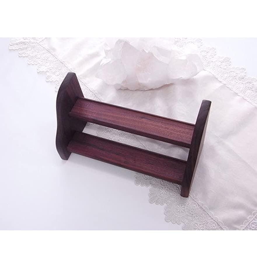 最終的にジャベスウィルソン孤児フラワーエッセンス 用 木製 ラック Dタイプ 2段