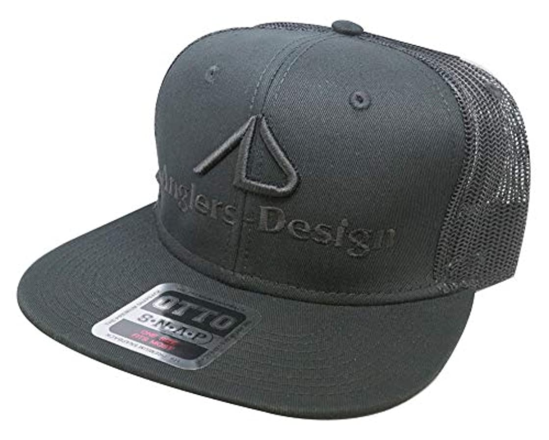 失礼なキャプチャーサーバントアングラーズデザイン(Anglers Design) ADC-16 フラットバイザーメッシュキャップ ブラック ADC-16 ブラック