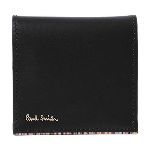 (ポール・スミス) PaulSmith ストライプポイント2 レザー コインケース 本革 財布 小銭入れ (ブラック)