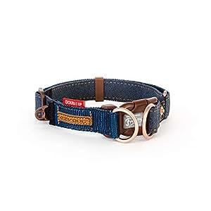 EZYDOG(イージードッグ) [正規代理店品] ダブルロックカラー [犬用首輪] デニム L サイズ