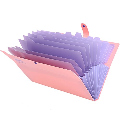 KAMA BRIDALファイルケース a4 スナップ式 12分類 大容量 防水 フォルダー 書類ケース ドキュメントスタンド ファイルボックス ファイルフォルダー 紙挟み ラベル付き 耐用 持ち運び 便利 笑顔柄 (ピンク)