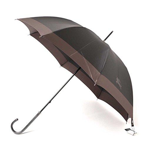 傘 シンプル スリム 軽量 ツートーン 60サイズ 全長91.5cm 親骨60cm バーバリー 71850 BURBERRY グレー メンズ