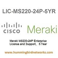Meraki Enterprise License for Meraki MS220-24P Cloud Managed Gigabit Switch - 5 Years LIC-MS220-24P-5YR [並行輸入品]