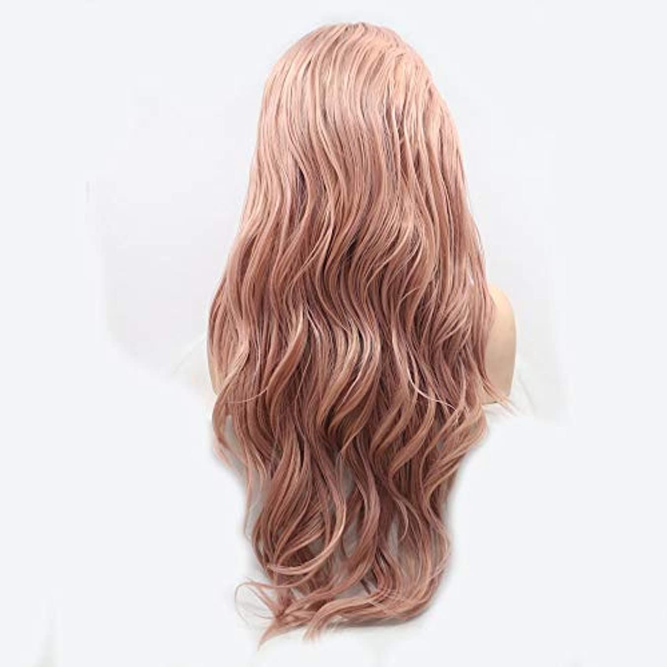 大胆改革贅沢HAILAN HOME-かつら ピンクのグラデーションイオンホットForesightful髪カーリーヘアウィッグレディース手作りのレースのヨーロッパとアメリカのウィッグセットウィッグセットナチュラルグラフィック換気