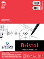 CANSON Foundation Series Bristol, Smooth 9 x 12 by Canson