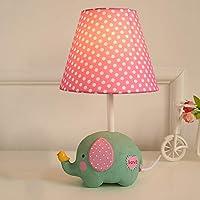 子供のテーブルランプ、赤ちゃんの象のデスクランプ、男の子と女の子のベッドルームのベッドサイドランプ、ピンク/青の装飾的な小さなランプ、E27 調光可能 WSHFOR (色 : Cc, Size : Dimming switch)