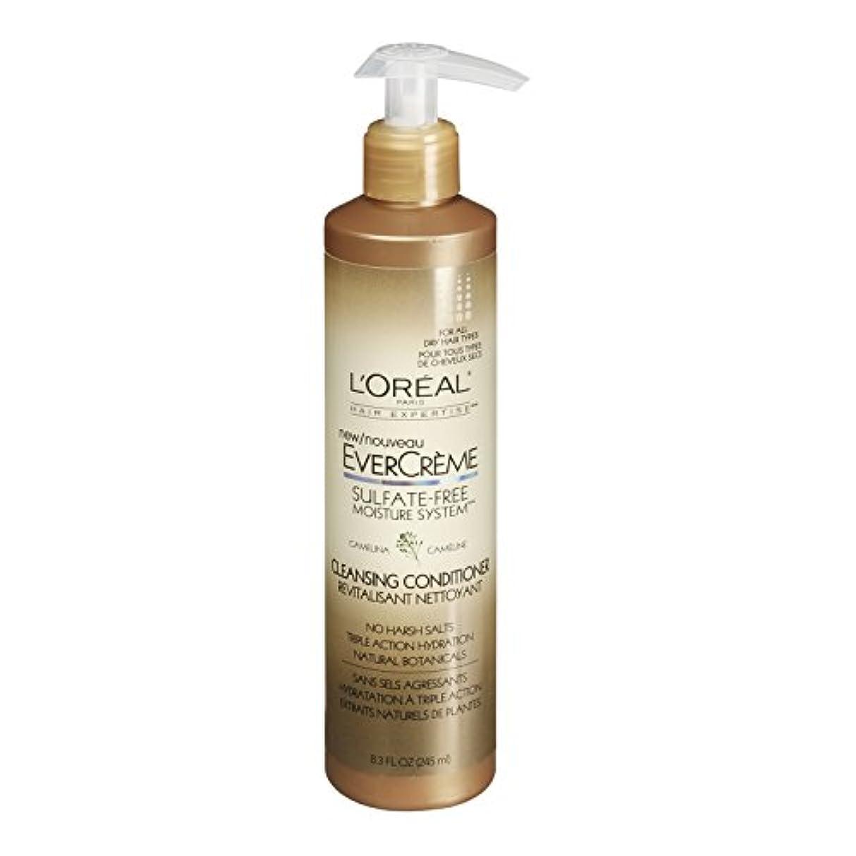知り合いになる心配コットンL'Oreal Paris EverCreme Sulfate-Free Moisture System Cleansing Conditioner, 8.3 fl. Oz. by L'Oreal Paris Hair...