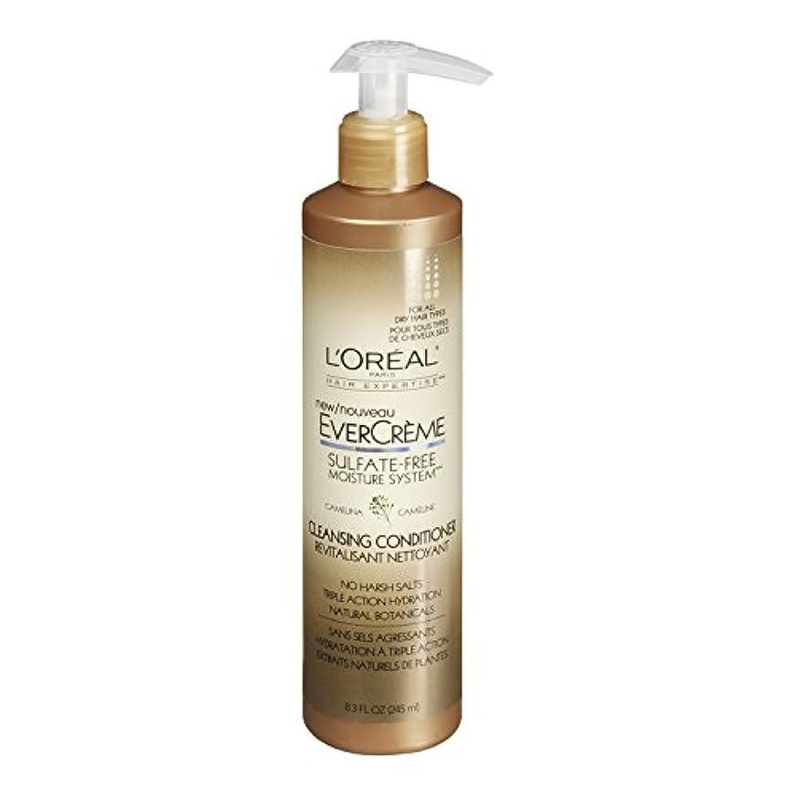 きらめく征服者ラジエーターL'Oreal Paris EverCreme Sulfate-Free Moisture System Cleansing Conditioner, 8.3 fl. Oz. by L'Oreal Paris Hair...