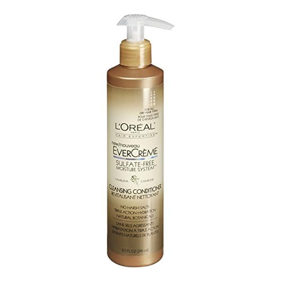 修理可能ビュッフェチーズL'Oreal Paris EverCreme Sulfate-Free Moisture System Cleansing Conditioner, 8.3 fl. Oz. by L'Oreal Paris Hair...