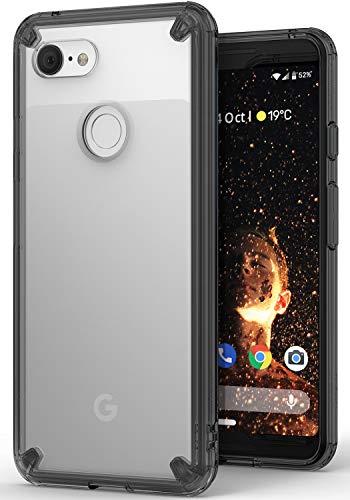 Google Pixel 3 ケース 対応 Ringke [Fusion] クリア 透明 落下防止 ストラップホール スマホケース [米軍MIL規格取得] TPU PC 二重構造 吸収耐衝撃カバー [Qi 充電 対応] (Smoke Black/黒煙)