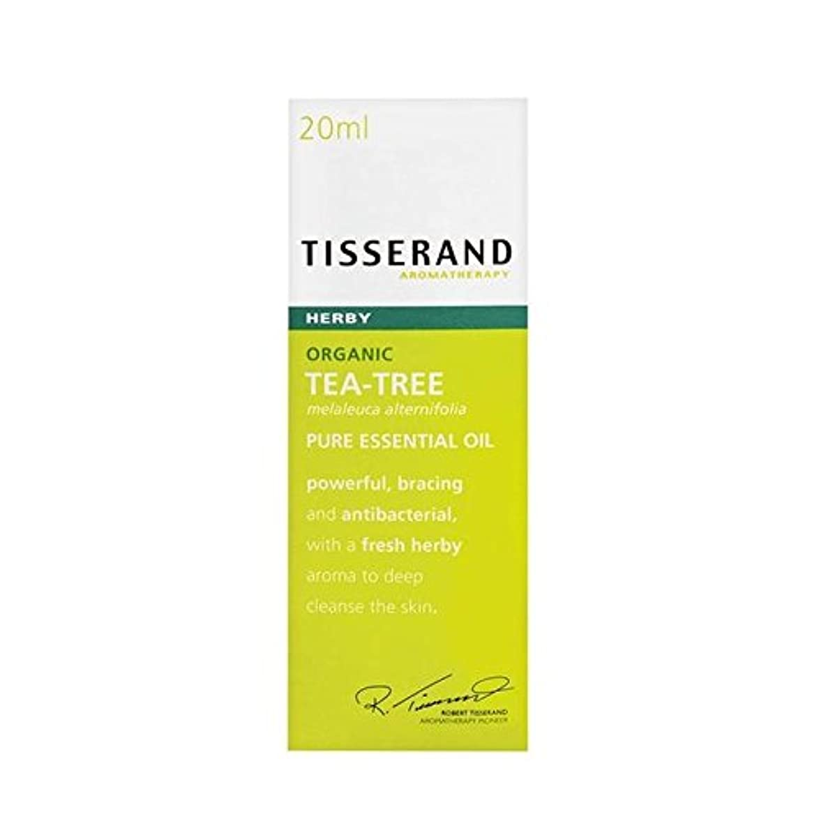 バック丁寧繊細Tisserand Tea Tree Organic Pure Essential Oil 20ml - ティスランドティーツリーオーガニックピュアエッセンシャルオイル20ミリリットル [並行輸入品]