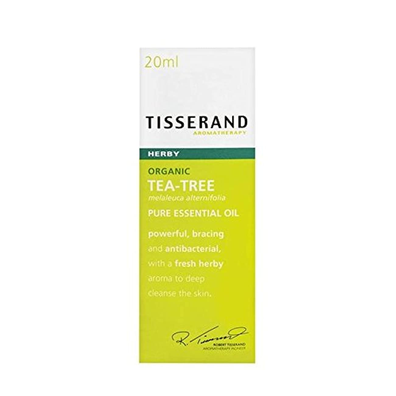 Tisserand Tea Tree Organic Pure Essential Oil 20ml - ティスランドティーツリーオーガニックピュアエッセンシャルオイル20ミリリットル [並行輸入品]
