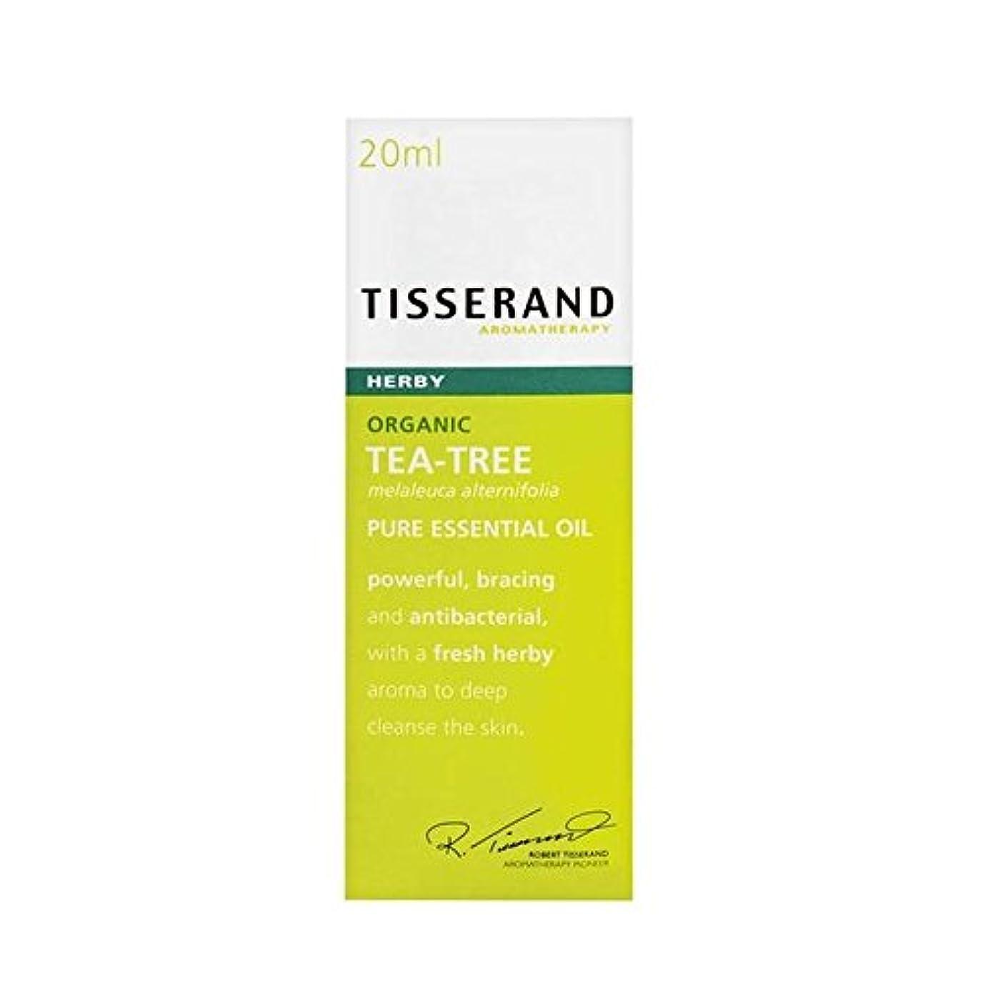 ティスランドティーツリーオーガニックピュアエッセンシャルオイル20ミリリットル x4 - Tisserand Tea Tree Organic Pure Essential Oil 20ml (Pack of 4) [並行輸入品]