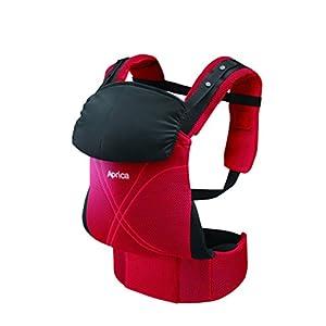 Aprica (アップリカ) 抱っこひも コラン ハグ AB コンフォート レッド RD (つかれにくい腰ベルトタイプ + 新生児シート同梱 + 5Wayタイプ) 39460 【新SG対応モデル】