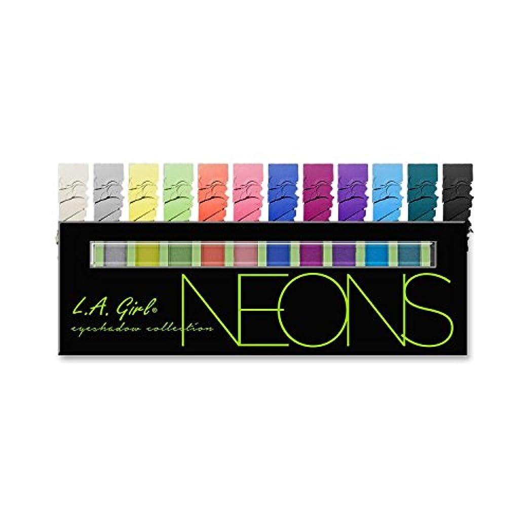 配当面十億LA GIRL Beauty Brick Eyeshadow Collection - Neons (並行輸入品)
