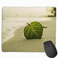 マウスパッド 砂 葉 緑 グレー ゲーミング オフィス最適 おしゃれ 疲労低減 滑り止めゴム底 耐久性が良い 防水 かわいい PC MacBook Pro/DELL/HP/SAMSUNGなどに 光学式対応 高級感プレゼント plesamncgb