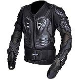 CHCYCLE Motorcycle Full Body Armor Motocross ATV Motorbike Jacket Protector (4XL, Black)