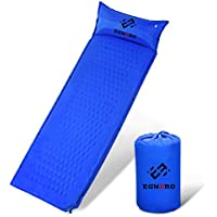 Self Inflating Sleeingパッドby Egnaro、コンパクト防水Air Sleepingマット、て、キャンプ、旅行、バックパッキング、ハイキング、74.8