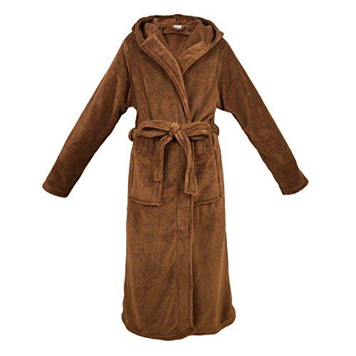 EACA 着る毛布 フード付き 腰ベルト付き プレミアムマイ...