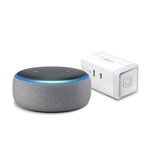 Echo Dot 第3世代 - スマートスピーカー with Alexa、ヘザーグレー + TP-Link WiFi スマートプラグ 直差しコンセント 音声コントロール
