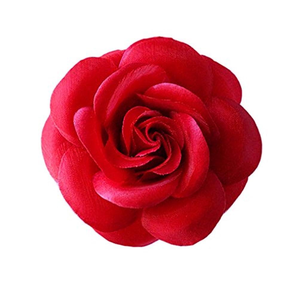 ピクニックをするためらうトランスペアレントコサージュ バラ コサージュ 2way 赤 髪飾り ヘッドドレス fh19159rd
