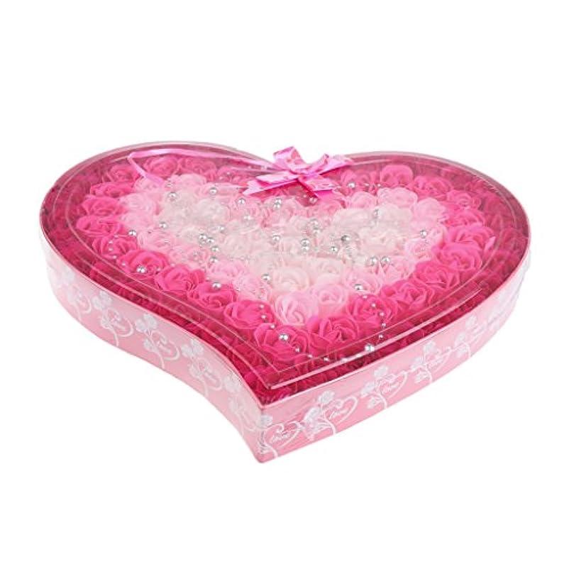 合体評価する昇る約100個 ソープフラワー 石鹸の花 母の日 心の形 ギフトボックス バレンタインデー ホワイトデー 母の日 結婚記念日 プレゼント 4色選択可 - ピンク