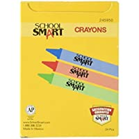 School Smart Standard Non-Toxic Crayons - 3 1/2 x 5/16 inches - Set of 24 - Assorted Colors [並行輸入品]