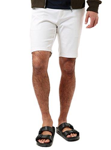 JIGGYS SHOP (ジギーズショップ) ストレッチ ツイル ショーツ メンズ ショートパンツ ハーフパンツ 短パン サーフ 迷彩 花柄 膝上 ホワイト XL