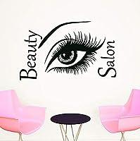 Ljjlm 美容院美容室理髪店Diyの壁紙取り外し可能なビニール家の装飾アートウォールステッカー60×37センチ