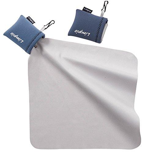 Limpio(リンピオ) クリーニングクロス レンズクリーナー メガネ拭き 2個セット(ブルー)【スマホ タブレット 液晶画面 レンズ メガネ カメラ】