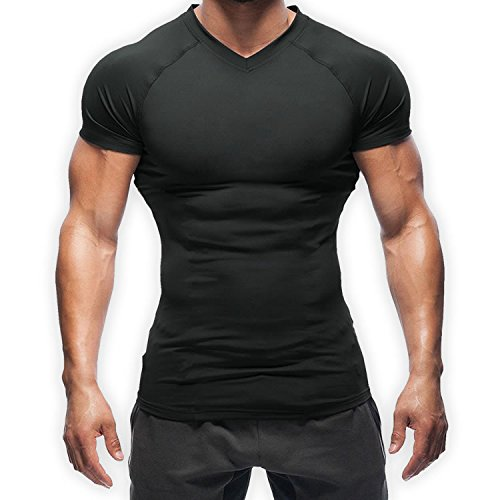 【正規販売店】加圧シャツ SASUKE 鍛える抜くならこの1枚!!最強の加圧で自分の限界を突破せよ!!2枚セット (黒, M)