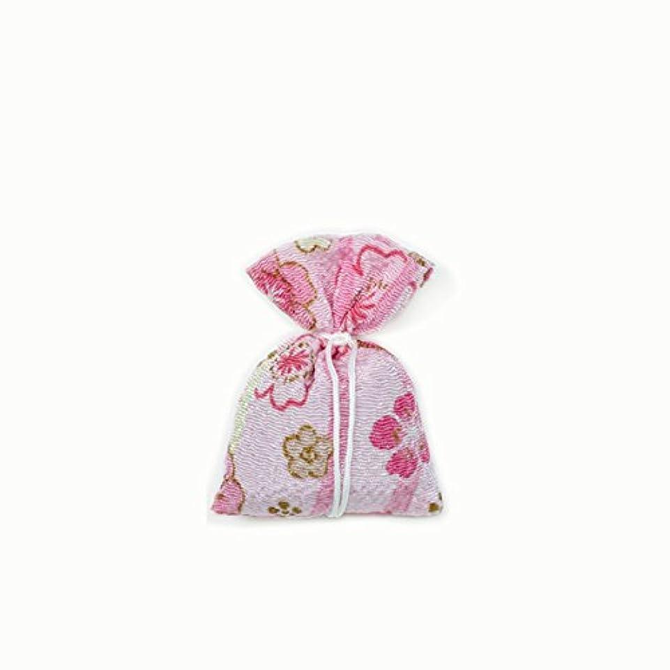 ぐるぐるにやにや効能匂袋 巾着 友禅中 ピンク系