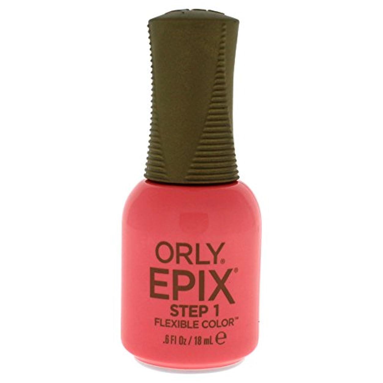 マキシム読み書きのできない談話Orly Epix Flexible Color Lacquer - Trendy - 0.6oz/18ml
