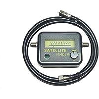 BS/スカパー! (CS) / スカパー! プレミアム 衛星放送信号強度メーター 測定に必要な 同軸ケーブル付 ( ブザートーン/メーター バックライト付/サテライト )
