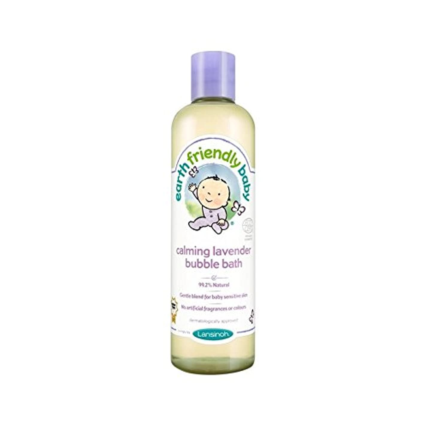課す無臭呼吸赤ちゃん沈静ラベンダー泡風呂のエコサートの300ミリリットル (Earth Friendly) (x 6) - Earth Friendly Baby Calming Lavender Bubble Bath ECOCERT 300ml (Pack of 6) [並行輸入品]