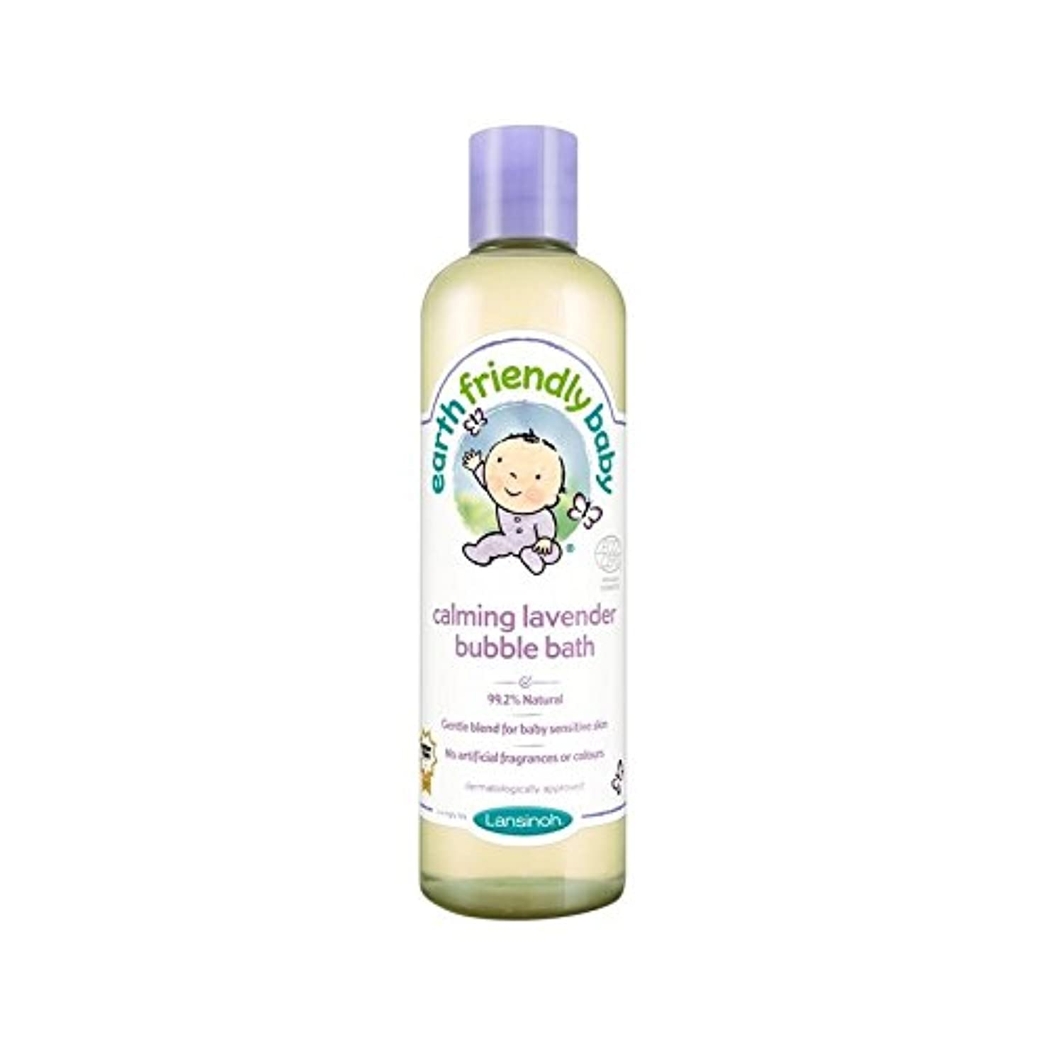 ストライド書士創造赤ちゃん沈静ラベンダー泡風呂のエコサートの300ミリリットル (Earth Friendly) (x 6) - Earth Friendly Baby Calming Lavender Bubble Bath ECOCERT...
