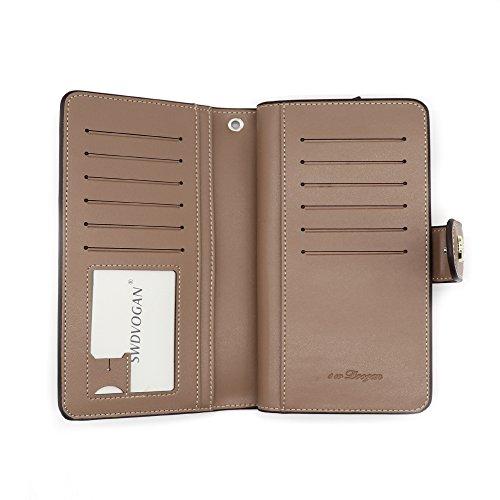 ad510b1640ba Dimon-M 財布 レディース 長財布 大容量 ウォレット かわいい 花柄 型押し 星